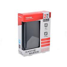 "HD HARD DISK ESTERNO 2TB 2,5"" TOSHIBA AUTOALIMENTATO USB 3.0 2000 GB HARDISK HDD"