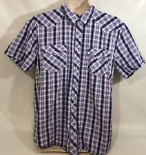 Canyon River Blues Western Style Snap Buttons Classic Fit Size XXL