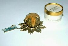 Antique Pin Cushion HATTIE CARNEGIE Signed & Mini Hat Box Rare