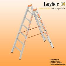 Layher Alu Sprossenstehleiter, 2x6 Spr., L=1,85m, Bockleiter Topic Typ 1039.006