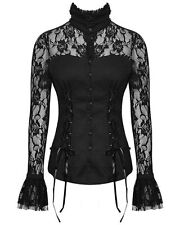 Cotton Blend Floral Collared Waist Length Women's Tops & Shirts