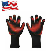BBQ Grilling Gloves Extreme 932℉ Heat Resistant Cook Oven Welding Hot Fireplace