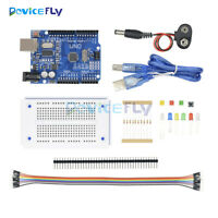 UNO R3 Starter Kit for Arduino Microcontroller ATMEGA328P 270 Breadboard