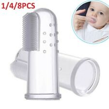 Baby Kid Infant Soft Silicone Finger Tooth Brush Teeth Massager Toothbrush