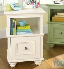New YoungOZ Petite White Bed Side Table/Lamp Table/Night Stand