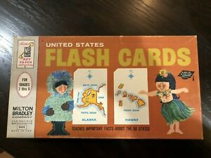 Vintage 1963 Milton Bradley United States Flash Cards #9002