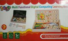 Montessori Holz Tafel 2in1 Rechnen, Malen und Spielen, Lernspiel