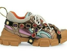 GUCCI FLASHTREK Sneakers Trainers Shoes with Removable Crystals 38 UK 5
