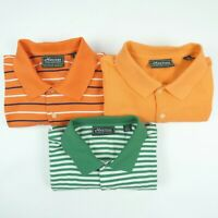 x3 Lot of 3 MASTERS COLLECTION L Large Golf Polo Shirts Augusta & Masters Logo