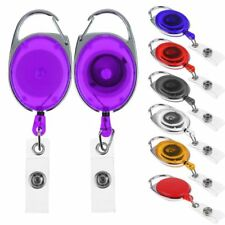 HOT Retractable Extendable Key Chain Belt Recoil Key-Ring Cord Wire Ring Pull