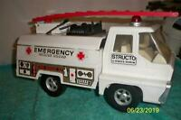 "Structo Emergency Rescue Squad Truck 1970's Very Nice Pressed Steel 12 1/2"" Long"