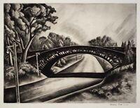 Howard Cook : Cobbled Bridge : 1930 : Archival Quality Art Print