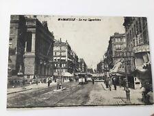 CPA 13 Bouches du Rhône - Marseille - Rue Cannebiere