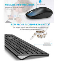 Wireless Keyboard And Mouse Combo 2.4GHz Ultra Thin Silent Ergonomic Design Gift
