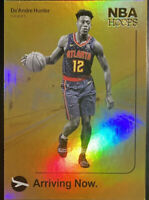 🔥 DE'ANDRE HUNTER RC 2019-20 NBA Hoops Arriving Now #14 Atlanta Hawks Gold Foil