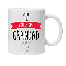 Personalised Worlds Best Grandad Mug - Ideal Birthday Gift - Various Colour
