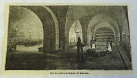 1882 magazine engraving ~ The Bullion Vaults of the BANK OF ENGLAND