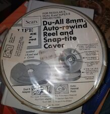 SEARS HOME MOVIE REELS Du-All 8mm AUTO REWIND REEL SNAP TITE COVER [New]