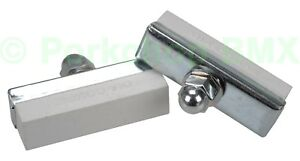 Dia-Compe reissue threaded brake pads old school BMX bicycle (PAIR) WHITE