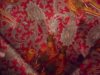 9-1/8Y Ralph Lauren LFY50526F Hunting Manor Paisley Velvet Upholstery Fabric