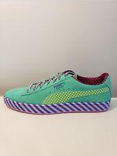 Puma Suede Classic Pop Culture Sneakers Blue/Green/Pink 367776-01 Size 10 RARE