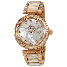 Omega De Ville Ladymatic 18 Carat Rose Gold Diamond Watch 425.65.34.20.55.007
