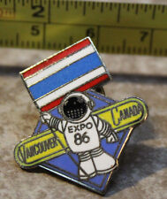 Expo 86 Ernie holding Thailand Pavilion Flag Vancouver Canada Collectible Pin