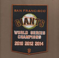NEW 5 X7 INCH SAN FRANCISCO GIANTS DYNASTY BANNER IRON ON PATCH FREE SHIPPING