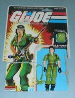 1985 GI Joe Covert Operations Lady Jaye v1 Figure w/ File Card Back *Complete
