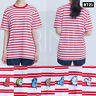 BTS BT21 Official Authentic Goods Short Sleeve Stripe T-Shirts Red by Hunt