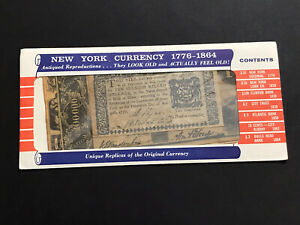 Rare Vintage New York Currency 1776-1864 Clinton Parchment Paper Antiqued Repro