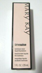 Mary Kay Timewise Luminous-Wear Liquid Foundation Bronze 1 New in Box 038713