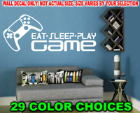 PLAYSTATION 5 EAT SLEEP PLAY GAME DECAL STICKER WALL SKIN PS5 CONTROLLER IMAGE