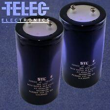 1 PC. STC Capacitor 22000uF/100VDC Screw Terminal Can
