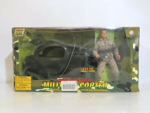 "Power Team World Peacekeepers Military Copter w/12"" Figure"