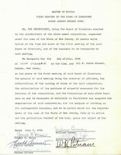 1966 South Jersey Hockey Corp. Documents, Signed Devils President Harold Aronow