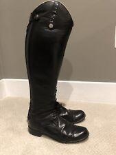 Der Dau Womens Custom Black Riding Boots 8.5