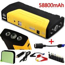 58800mAh Dual USB Car Jump Starter Emergency Charger Booster Power Bank Battery