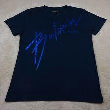 Balmain Paris T-Shirt Adult Extra Large Blue Navy Spell Logo Tee Cotton Top Mens