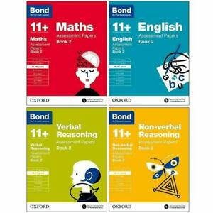 Bond 11+ Maths Assissment Papers Book 2  10-11 Years 4 Books Paperback  Set