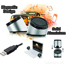 USB LAPTOP PORTABLE SPEAKERS MULTIMEDIA SOUND MUSIC DESKTOP PC MAC BOOK NOTEBOOK