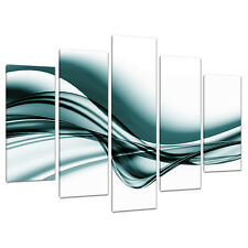 Set of 5 Teal Canvas Wall Art Prints UK Living Bed Room Pictures 5033