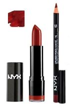 NYX Round Lipstick Snow White 569 and Slim Lip Liner 844 Deep red set
