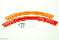 Bicycle Wheel Spoke Safety Reflector Set Red/Orange