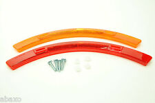 Bicycle Wheel Spoke Safety Reflector Set Red/Orange