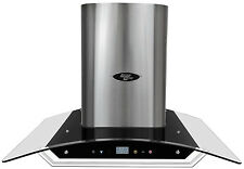 """36"""" Range Hood Wall Mount Glass Canopy LH1-36G by LessCare"""