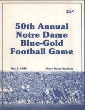 1980 Notre Dame Blue vs Gold Football Game Program