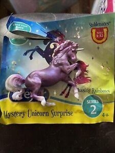 BREYER Stablemate Chasing Rainbows Unicorn Series 2-Orchid Connemara Mare-New