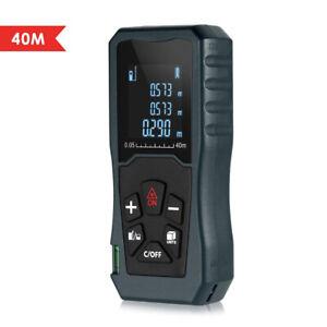 New Handheld Digital Laser Point Distance Meter Tape Range Finder Measure 40m