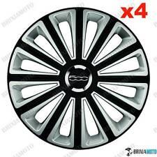4 COPRICERCHI CALOTTE BORCHIE 14 CERCHIO RUOTE SUNNY FIAT 500 TWINAIR